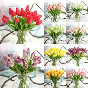 Touch PU Mini Tulip Artificial Simulation Bouquet Flowers DIY Home Wedding Decor