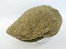 New Polo Ralph Lauren 100% Wool Plaid Tweed Driving/Hunting Hat Flat Cap S/M