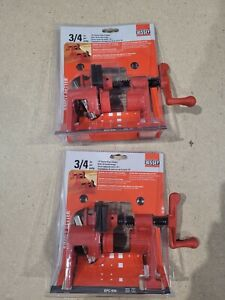 """Bessey Germany BPC-H34 3/4"""" Pipe Clamping Set x 2  RRP £95.83"""
