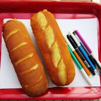 Creative School French Bread Pen Bag Pencil Case Pouch Cheese Purse SA