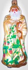 "Patricia Breen Full Size Redoute Santa Strawberries #2125 Gold Glass 2003 5.5"""