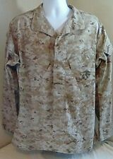 USMC US Marine Corps MARPAT Digital Desert Camo Shirt Medium Long Slant Pockets