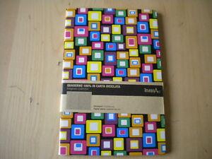 Quaderno 100% in carta riciclata 210x140 mm pagine a quadretti 5x5 mm Nuovo 998