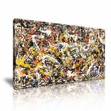 Jackson Pollock Abstracto estirada LONA pared arte Foto impresión 60x30cm