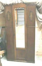 Antique Oak Armoire w/Beveled Mirror.