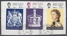 Brunei 1977 Θ Mi.215/17 Regentschaft Silver Jubilee Queen Elizabeth [sq7113]
