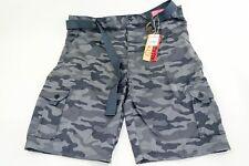 Premium Loose Thread Mens Camo Belted Cargo Shorts Sz 40