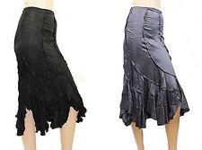 Knee Length Patternless Fishtail Plus Size Skirts for Women