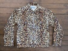 Wacko Maria Guilty Parties Trucker Jacket Leopard Cheetah Print Denim Small