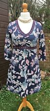 White Stuff Sundress - Navy With Floral Pattern - Stretch - UK 14 - Stunning