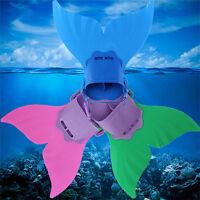 Niños Niños Natación Juguete Ola Aletas Buceo Aletas Mermaid Tail Monofin 7715HC