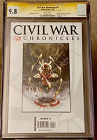 CIVIL WAR CHRONICLES #4 CGC 9.8 SS SIGNED BY MICHAEL TURNER HTF MARVEL (2008) NM