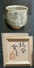 Mashiko Ware by Shinsaku Hamada Teacup Liquor Sake Set Pottery Antique w/Box