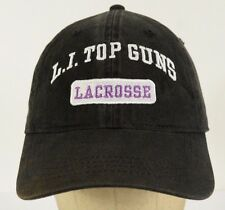 L.I. Top Guns Lacrosse Long Island Black Baseball Hat Cap Adjustable