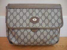 Vintage~GUCCI~Monogram GG Canvas/Leather Trim Clutch~Cosmetic Bag/Travel Bag~NR!