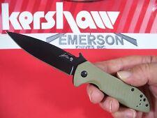 Kershaw Emerson - Cqc-4K Hinderer frame-lock G10 knife black wave Kai 6054Brnblk