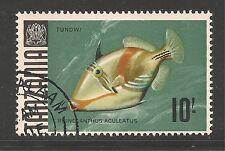 Tanzania #33 (A4)  VF POSTAL USED - 1967 10sh Striped Triggerfish - Fish