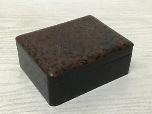 Y1995 BOX Wakasa-lacquer accessory case container Japanese antique Japan vintage