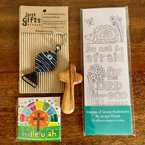 Christian Wrapped Letterbox Gift Set Easter Mothers Day Religious Olive Wood