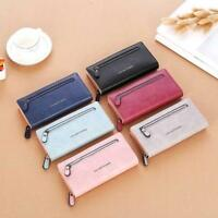 Women Leather Wallet Case Clutch Purse Ladies Long Handbag Card Holder Pocket UK