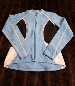 Louis Garneau LG Womens Blue Full Zip Large Jacket Cycling Running Athletic
