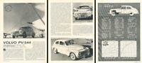 1963 1964 Volvo PV-544 PV544 Original Review Report Print Car Article K80