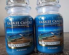 Yankee Candle   Turquoise Sky   22 oz  Lot of 2 NEW  Free Shipping
