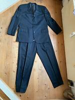 Business Anzug JOOP! Bundfaltenhose Jacket schwarz Super 100 Schurwolle 52 54