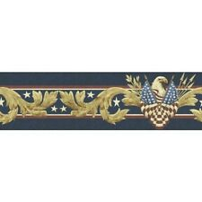 Patriotic American Eagle Peel and Stick Wallpaper Border QA4W0874