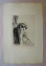 Eau-forte, Bacchante ivre, vers 1880, Jules Chevrier