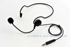 Neckband Tactical Headset Earpiece Boom Mic with NATO Plug for Ham Radio CS