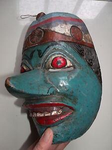 Rare Antique Large Topeng, wayang festival mask ramayana vishnu no keris asmat