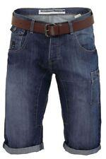 Shorts e bermuda da uomo blu con nessuna fantasia in denim