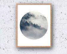 8 x 10in ABSTRACT MODERN forest circle minimalist danish nordic wall art print