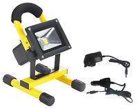 10W Portable Rechargeable LED Flood Light 700L C/W 2xCharger & Adj Frame HLO7310