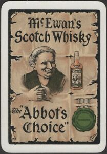 Playing Cards Single Card Old Wide * McEWAN Whisky ABBOT'S CHOICE  Advertising B