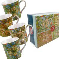 Boite Cadeau Set de 4 Chine Tasses / Tasses Lis Doré Design Par