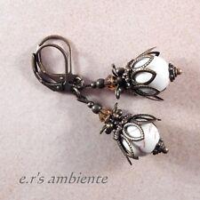 Ohrringe mit HOWLITH-Perlen, Bronze-Vintage-Look, Ohrhänger, 0444