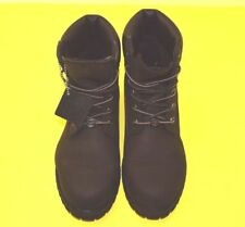 TIMBERLAND WOMEN'S 6 INCH PREMIUM FLAT BLACK LEATHER BOOTS SIZE 9 WIDE