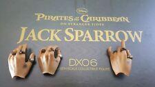 Hot Toys DX06 POTC Disney Captain Jack Sparrow 1:6 action figure's 3 left hands