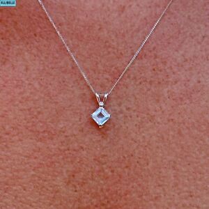 Aquamarine & Diamond White Gold Necklace and Earrings Suite