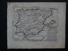1628 Bertius Atlas TAVERNIER  map  SPAIN - HISPANIA - HISPANIAE C PLINII - Pliny