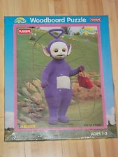Teletubbies Tinky Winky & Handbag Playskool 1998 Woodboard Puzzle w/ Packaging
