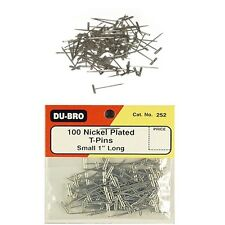 """DuBro 252 Nickel Plated T-Pins 1"""" (100pcs)"""