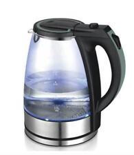 Glaswasserkocher Wasserkocker mit mehrfach Schutz 1 8l 1800w LED Blue