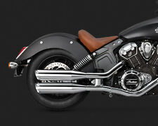 Vance & Hines Chrome Twin Slash Slip On Mufflers Exhaust for Indian Scout 15-16