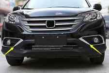 For Honda CRV 2012 - 2015 2PCS stainless frame front Fog lights Lamp cover trim