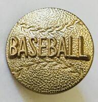 Gold Style Baseball Ball Lapel Brooch Pin Badge Rare Vintage (L39)