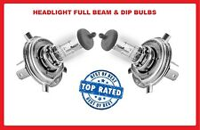 CALIBER 2007- Halogen headlamp bulbs DODGE Dip/low Main/Hi Beam 12v H4 60/55w