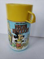 Vintage Magic Kingdom Walt Disney Plastic Thermos Aladdin Mickey Mouse